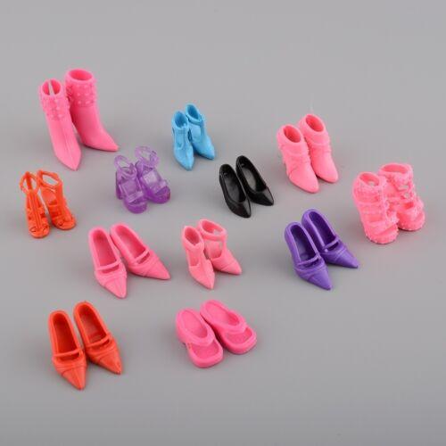 Doll Shoe Boots Barbie Doll Decorative Shoes Mix Size And Style 12-Pairs