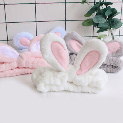1pcs Rabbit Bunny Ear Makeup Headband  Mask Soft Hair Band Women Face Wash - Ears Headband