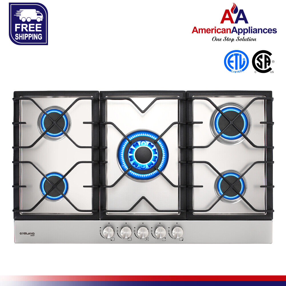 Gasland Chef GH90SF Built-in Gas Stove Top With 5 Sealed Bur