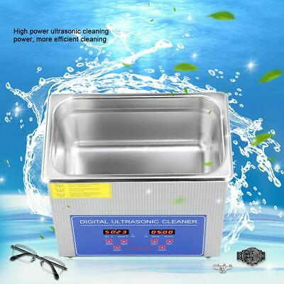 3l Ultrasonic Cleaner Ultra Sonic Heated Timer Heater Cleaning Stainless Steel