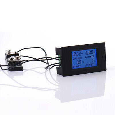 Dc 100v 50a Lcd Digital Multifunction Electric Energy Meter Voltmeter Amps Meter