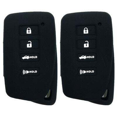 A Pair Black 4 Buttons New Key Fob Case Cover Remote Key fit for Lexus GS350
