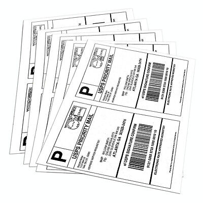 500 8.5 X 5.5 Shipping Labels Half Sheet Self Adhesive 2 Per Sheet - Usps Ebay