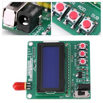 Digital Lcd Rf Power Meter -7516 Dbm 1-600mhz Radio Frequency Attenuation Meter