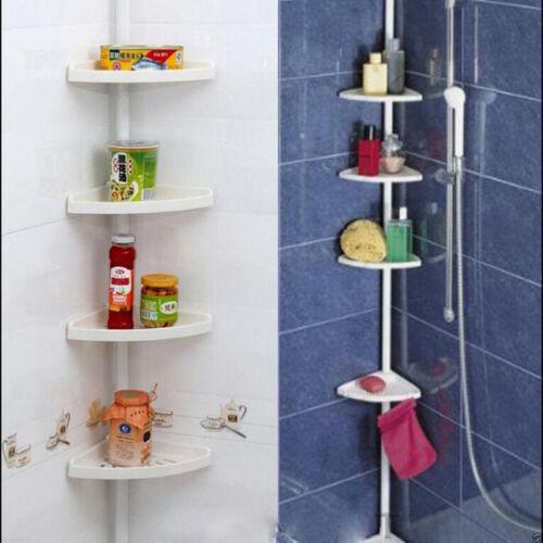 4tier corner caddy shelf plastic storage rack organiser. Black Bedroom Furniture Sets. Home Design Ideas