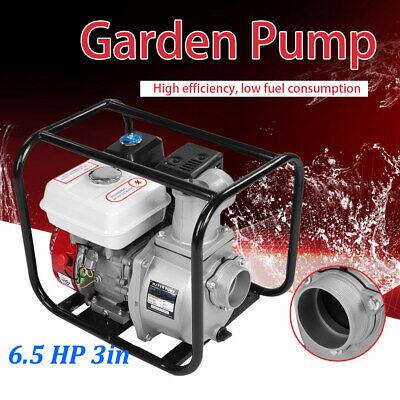 6.5 Hp 3in Gas Water Semi Trash Pump Petrol High Pressure Garden Irrigation Us