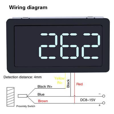 12v Digital Led Tachometer Rpm Speed Meterhall Switch Sensor Npn Green Stw