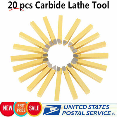 20pc 38inch Carbide Tip Tipped Cutter Tool Bit Cutting Set For Metal Lathe Tool