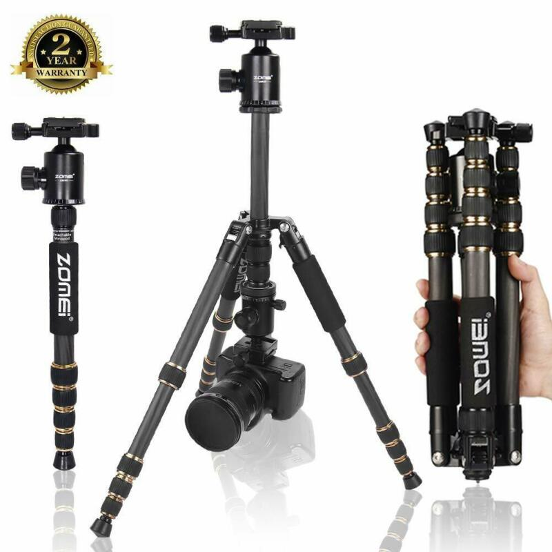 Z699C Pro Portable Carbon Fiber Tripod Monopod&Ball Head Stand for DSLR Camera