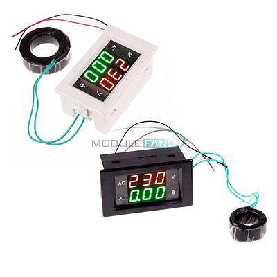 Digital Lcd Volt Ampere Amp Meter Voltmeter Dual Panel Guage Ac 100-300v200a M