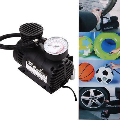 300PSI 12V Car Auto Bike Portable Pump Tire Inflator Mini Air Compressor (on