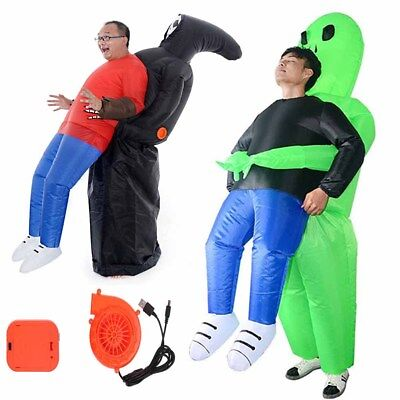 Halloween Fancy Dress Alien Ghost Horror Inflatable Adult Costume Blow Up Suits (Inflatable Halloween Suits)