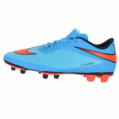 Nike Hypervenom Phade Fg 599809-484 Clearwater/Crimson/Black Mens size 6.5