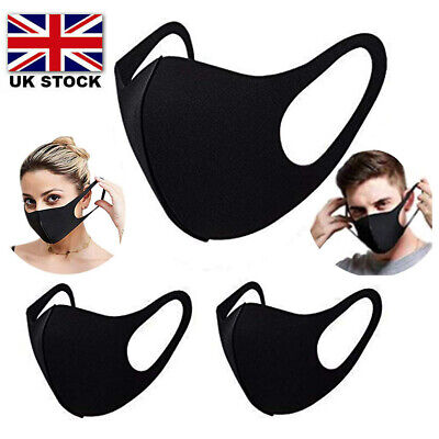 5 Pcs Face Masks Reusable Washable AntiDusk Smoke Safety Mask UK Stock Pack of 5
