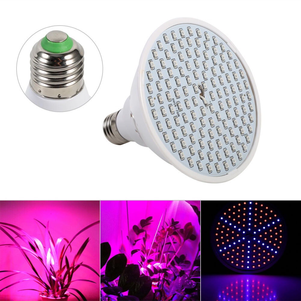 e27 led plant vegetable grow light lamp full spectrum bulb. Black Bedroom Furniture Sets. Home Design Ideas