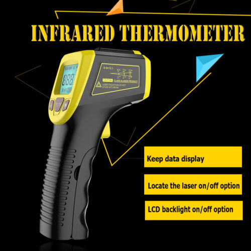 Digital Thermometer Infrared Handheld Temperature Gun Non-Contact IR Laser Gun