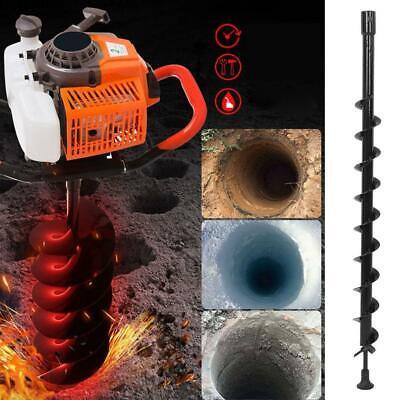 60x800mm Electric Garden Auger Earth Planter Spiral Drill Bit Post Hole Digger