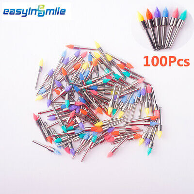 100pc Dental Disposable Polishing Prophy Cup Brush Flatmanetapered Easyinsmile
