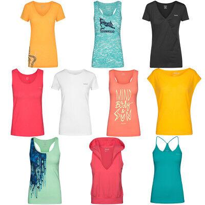 Reebok Damen Fitness Shirt Sport Training Joggen Oberteil Yoga Tanz T-Shirt Tee