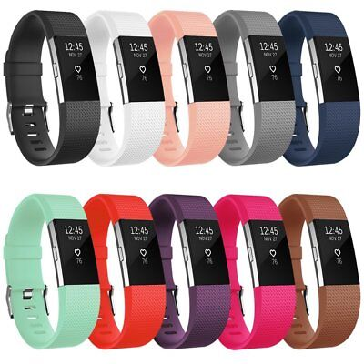 Replacement Bands For Fitbit Charge 2HR+Fitness Wristband Size S/L Pack of