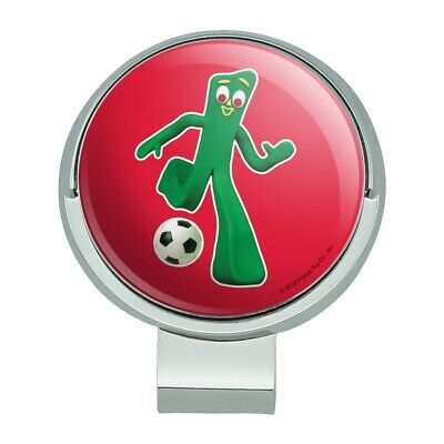 Sporty Gumby Soccer Ball Player Clay Art Golf Hat Clip With Magnetic Ball (Art Hat Clip Ball Marker)