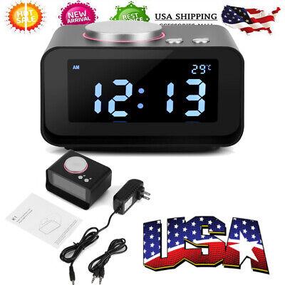 Digital Alarm Clock Bluetooth Radio Speaker Led Display Snooze Dual Usb Ports
