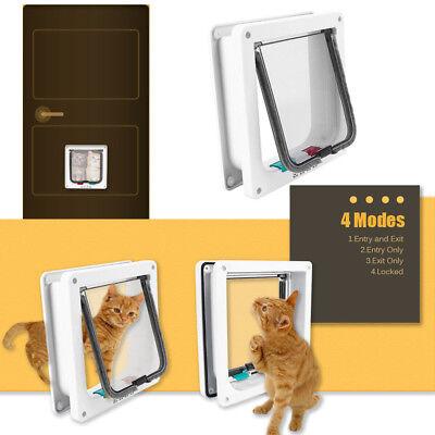 Katzenklappe 4 Wege Katzentür Haustierklappe Hunde Katze Smart Flap Tür Pet