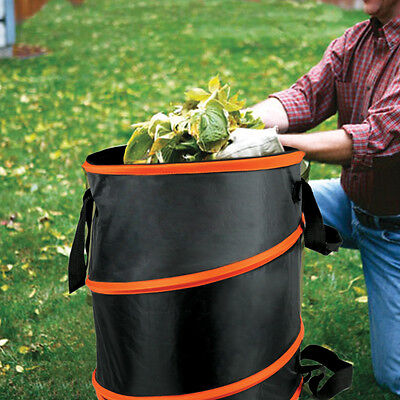 Collapsible Pop-Up Camp Trash Can Portable Outdoor Garbage Hiking Storage New
