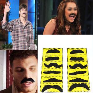 Pack of 12pcs Black Stick on Fake Moustache Self Adhesive Party Joke Mustache