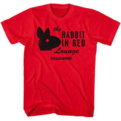 Halloween Horror Movie Rabbit in Red Lounge Men's T Shirt Michael Myers Scary