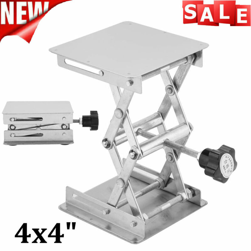 -Lift Lifting Adjustable Platform Stand Rack Scissor  Stainless Steel 4x4""