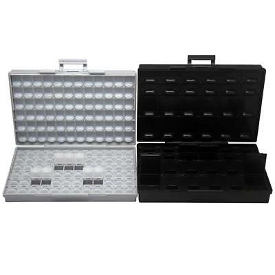 Aidetek 2pcs Resistor Capacitor Storage Box Organizer 1206 0402 Box144box48as