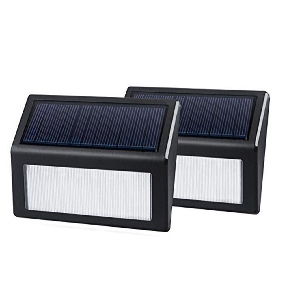2PCS LED Solar Power Motion Sensor Waterproof Wall Light PIR