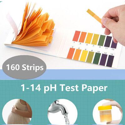 160 Strips Ph Indicator 1-14 Test Paper Litmus Tester Laboratory Urine Saliva