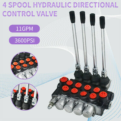 4 Spool Hydraulic Directional Control Valve Double Acting Cylinder Spool 11gpm