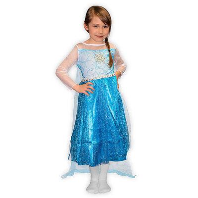 Kostüm Eiskönigin für Mädchen Prinzessin Kinder Fasching Karneval Elsa
