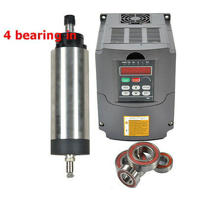 Four Bearing 2.2kw Er20 Air Cooled Spindle Motor 2.2 Kw Inverter Drive Vfd Cnc