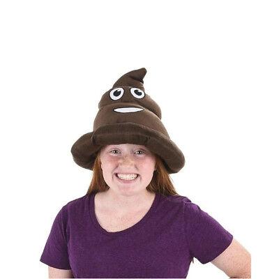 Emoji Poop Hat Poo Shape Head Cell Phone Emoticon Text Message Soft Cap Gag