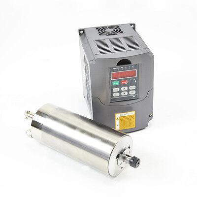 1.5kw Water Cooled Motor Spindle Drive Inverter Vfd 80mm Diameter Hy