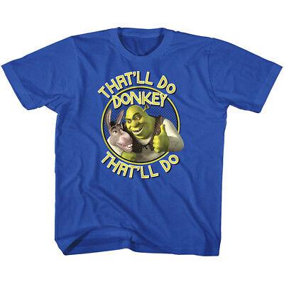 Shrek Kids T-Shirt That'll Do Donkey Ogre Cartoon Movie Boys Girls Baby Youth