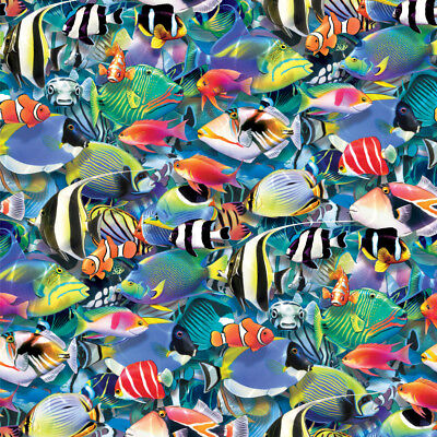 Ocean Coral Reef Fish Jam Diving Pattern Premium Roll Gift Wrap Wrapping Paper - Coral Wrapping Paper