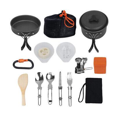 Camping Cookware Kit Outdoor Hiking Gear Cooking Equipment Lightweight Durable