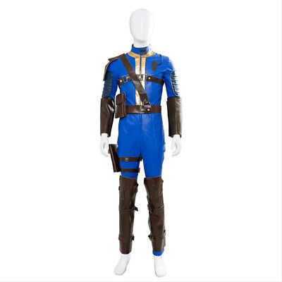 Fallout  FO 76 Vault # 76 Jumpsuit Cosplay Costume Uniform Outfit Battle - Fallout Vault Suit