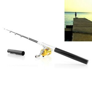 Smallest 8 fishing fish rod pen reel portable pocket for Compact fishing rod