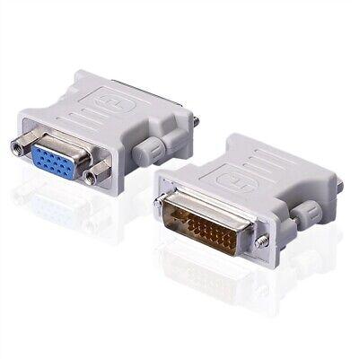 DVI 24+5 Stecker VGA Female 15pol Buchse Adapter für PC Laptop Monitor DVD HDTV Hdtv Dvd