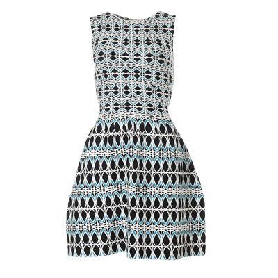 iBLUES MAX MARA Dress Black White Blue Knit Size Small RRP £149 BG 323