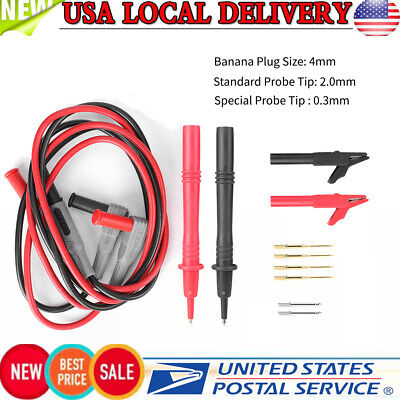 12 In 1 Test Lead Kit For Multimeter Test Leads Probe Electronic Needle Clip New