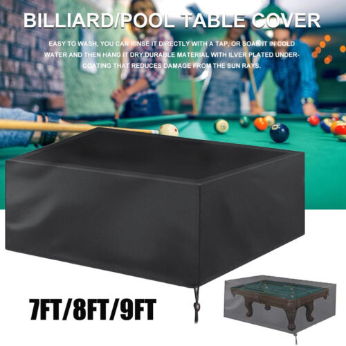 7//8//9 FT Pool Snooker  Billiard Table Cover Fitted Heavy Duty Waterproof Dust