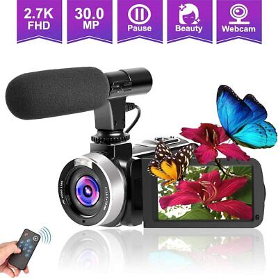 Digital Video 30MP Camera 2.7K Camcorder Microphone WiFi Night Vision Logging