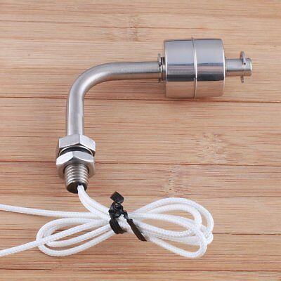Fish Tank Pool Liquid Water Level Sensor Angle Float Switch Stainless Steel 10mm